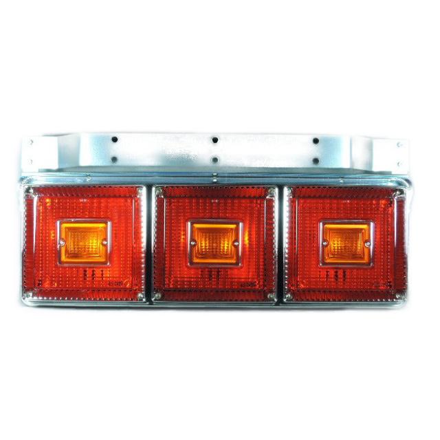[お取寄せ] JB 角型<06>3連大型テールランプ L/R [赤・赤・赤(ウィンカーリレー無し:全灯) ] ※DC24V専用 [9244014]