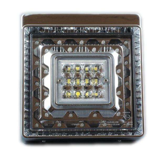 JB 角型LEDテールランプ単体 赤/白 DC24V専用 [9249062D]
