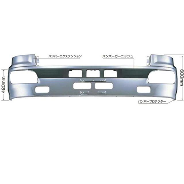 [メーカー直送品] JET 日野大型NEWプロフィア(H15.11~) 専用フロントバンパー H600 [510467]