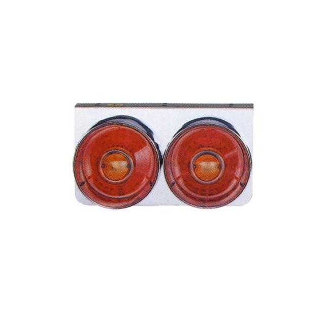 JET 丸型2連テールランプ大型 L/R DC24V専用(220×400×奥行170mm) [リレー無] [525309]