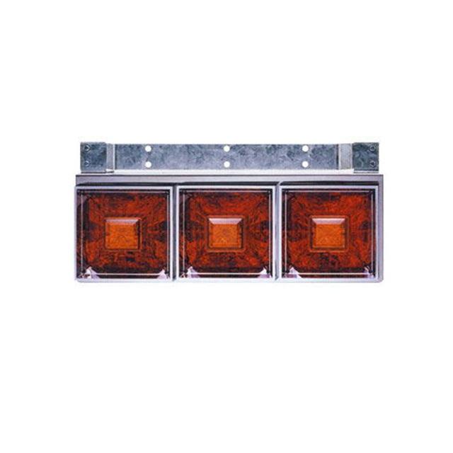 JET 角型3連フラッシュテールランプ大型 L/R DC24V専用(220×600×奥行145mm) [リレー付] [525701]