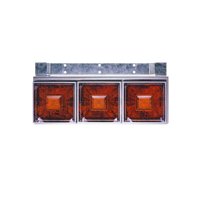 JET 角型3連フラッシュテールランプ小型 L/R DC24V専用(175×430×奥行150mm) [リレー付] [525801]