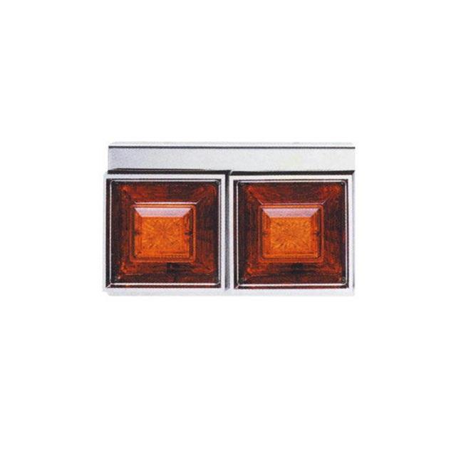 JET 角型2連フラッシュテールランプ小型 L/R DC24V専用(175×300×奥行145mm) [リレー無] [525831]