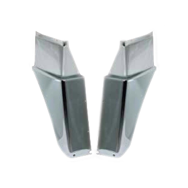 JET フロントマッドガードカバー L/R ふそう大型スーパーグレート(H8.6~ ●新型OK) 用 ※樹脂メッキ かぶせ式 [572358]