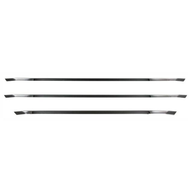 JET フロントグリルトリムセット[ブラッククローム] いすゞ大型 ファイブスターギガ[2015ギガ](H27.11~) 用 ※ステンレス製 かぶせ式 [573324]