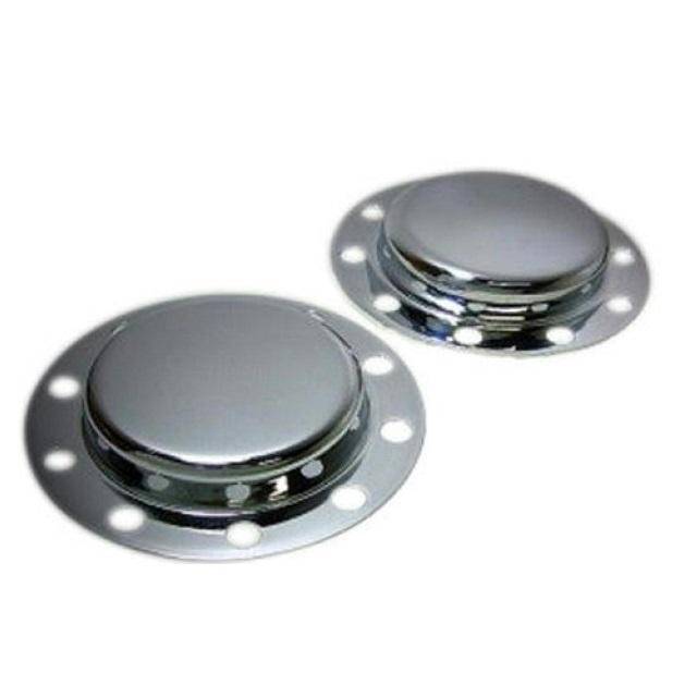 鍛冶屋 メッキリアハブキャップ[各社4t車用] L/R 2枚セット ※ボルトは付属していません。