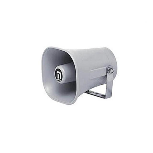 [お取寄せ] ノボル電機 樹脂製ホーンスピーカー グレー 1個 (154×140mm 全長155mm 8Ω 5W) [NP-105]