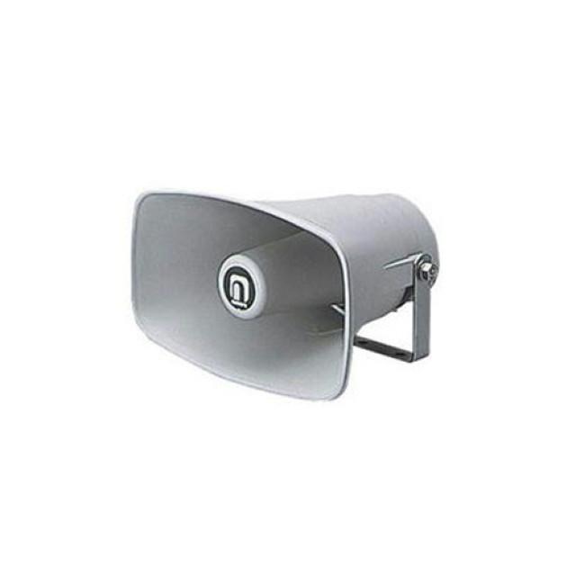 ノボル電機 樹脂製ホーンスピーカー グレー 1個 (225×140mm 全長188mm 8Ω 10W) [NP-110]