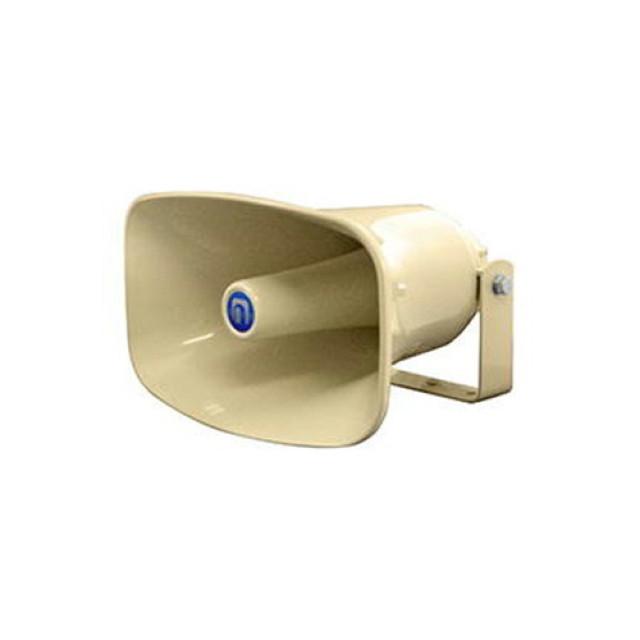 [お取寄せ] ノボル電機 樹脂製ホーンスピーカー クリーム色 1個 (360×225mm 全長320mm 16Ω 50W) [NP-550]