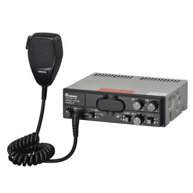 [お取寄せ] ノボル電機 SDカード搭載マイク付アンプ 12V10W 1個 ※スピーカー、SDカード別売 [YD-311B]
