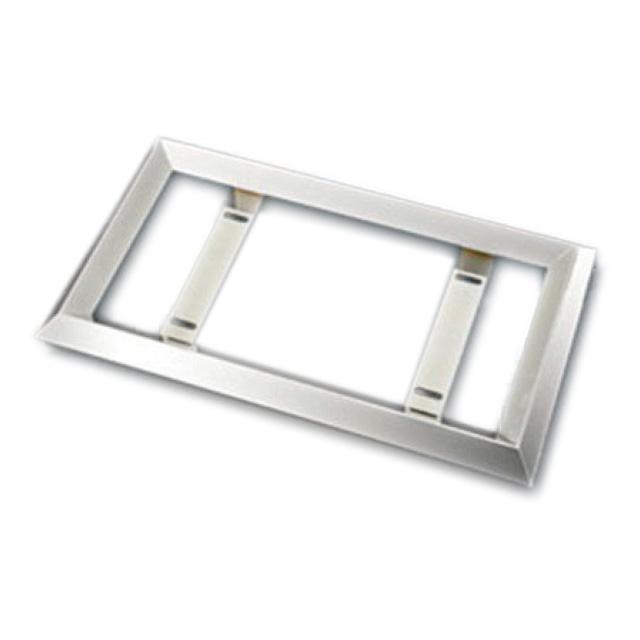 AS 35角オコシナンバープレート枠 大型用 540×320×50mm ステンレス角パイプ (No枠、ナンバー枠)