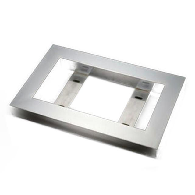 AS 50角フラットナンバープレート枠 大型用 565×345×50mm ステンレス角パイプ (No枠、ナンバー枠)