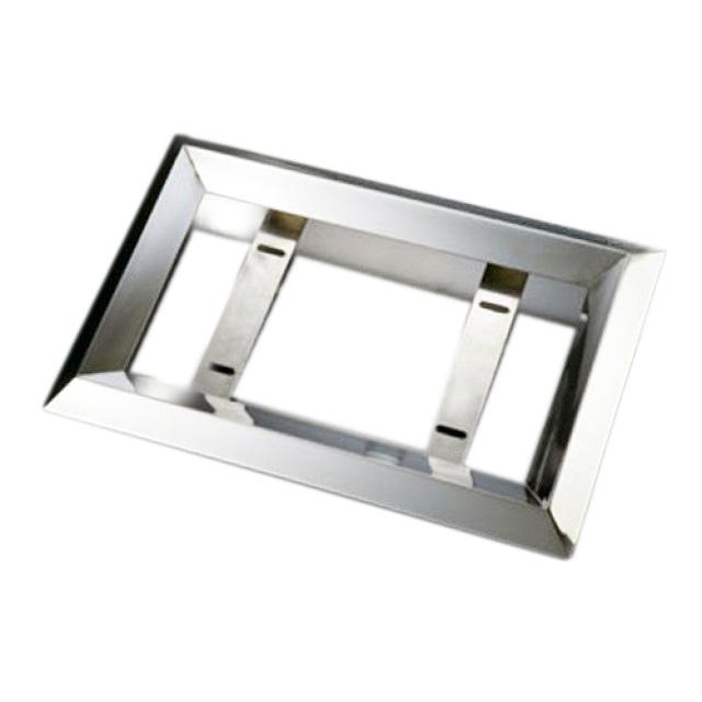 AS 50角オコシナンバープレート枠 大型用 605×385×70mm ステンレス角パイプ (No枠、ナンバー枠)