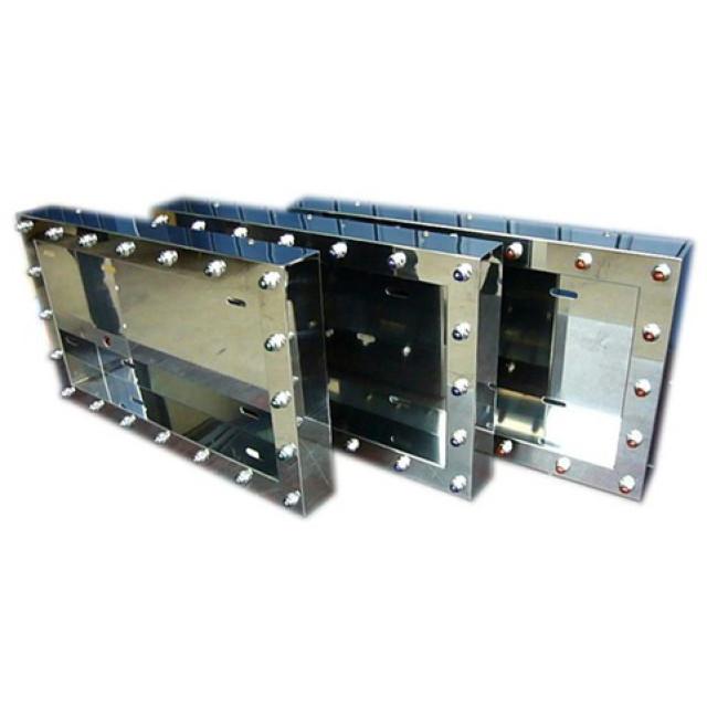 AS パイロットランプ(電球式) ナンバー枠 中型用 425×260×60mm ステンレス 字光式対応 (No枠、ナンバープレート枠)