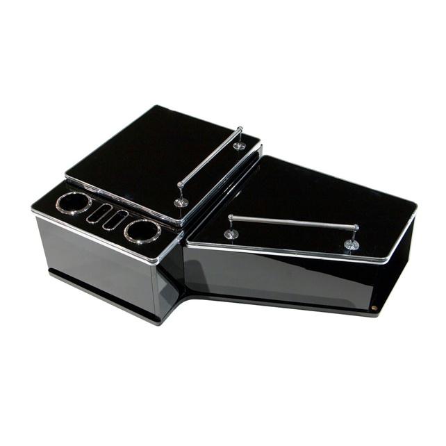 JET センターテーブル フルサイズ いすゞ大型 ファイブスターギガ(H27.11~ )用 [595519-521] (ピアノブラック、黒木目調、木目調)