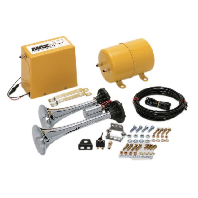 [お取寄せ] 日建 ヤンキーマックス ●24V専用 [MAX-Y-24] (ホーン、コンプレッサー、エアータンク、付属品の完全フルキット)