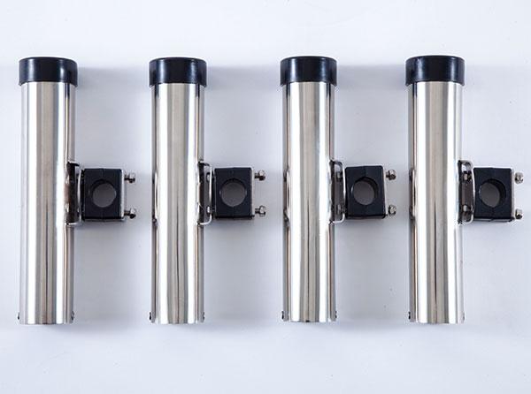 ステンレス製で錆びにくいクランプオンタイプのロッドホルダーお得なセット価格 シングルロッドホルダーライト 開店記念セール SALE 4個セット