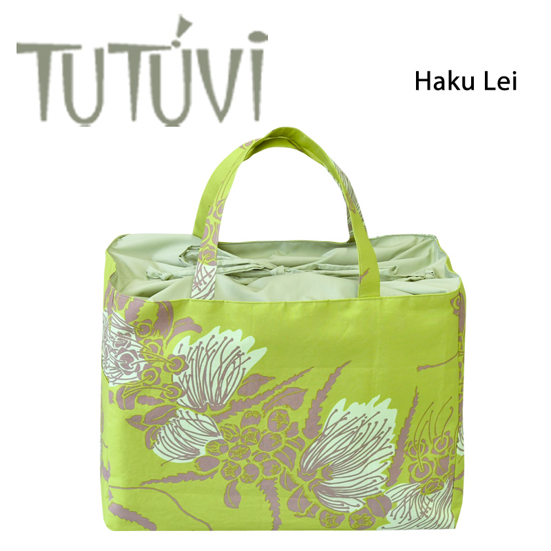 TUTUVI Hough Lei Color Green With The Hula Lesson Bag Order Tote STP Drawstring Purse