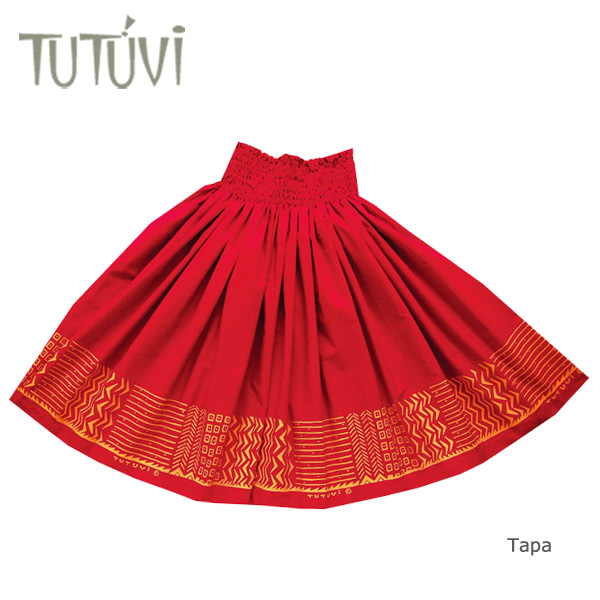 クラシック フラダンス衣装 パウスカート スカート フラ パウ PFT-FT305 TUTUVIパウ タパ レッド イエロー 赤 黄, サクラク 1a16f541