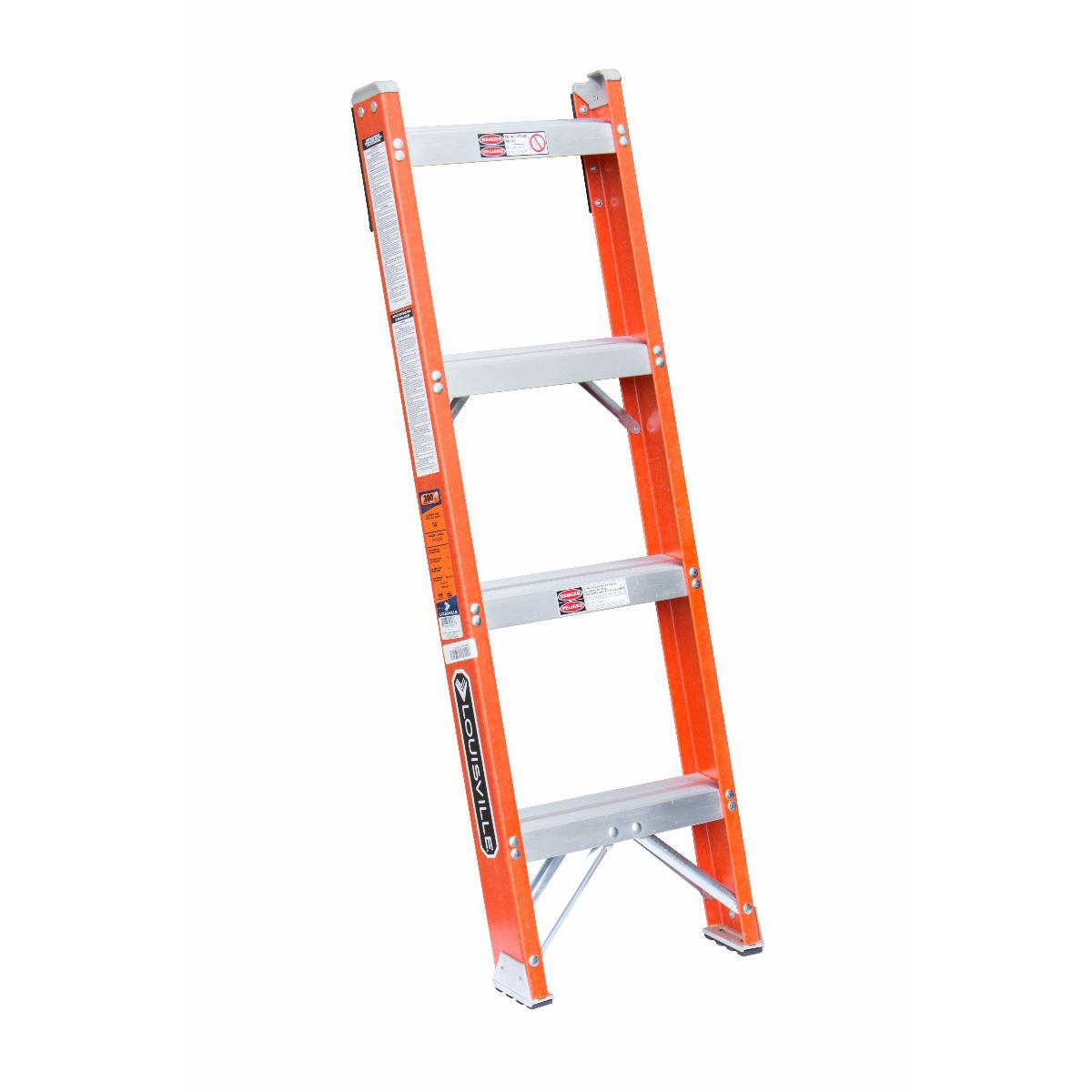 Louisville Ladder(ルイビルラダー) ファイバーはしご[オレンジ]耐荷重135kg【4ft(120cm)】