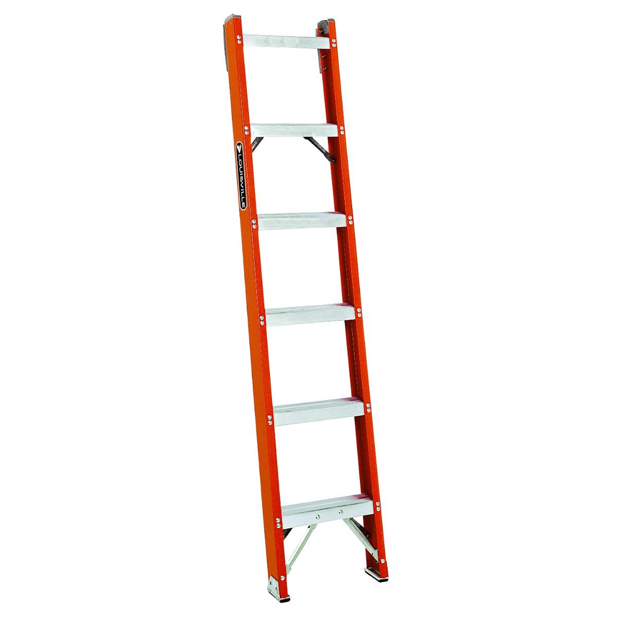 Louisville Ladder(ルイビルラダー) ファイバーはしご[オレンジ]耐荷重135kg【6ft(180cm)】