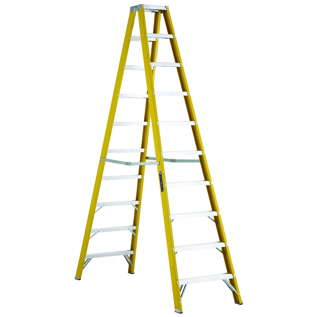 Louisville Ladder(ルイビルラダー) ファイバー脚立ツインステップ[イエロー]耐荷重110kg【10ft(300cm)】