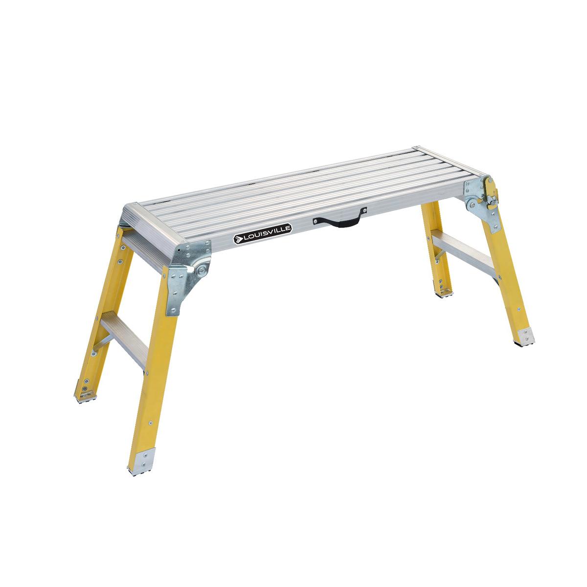 Louisville Ladder(ルイビルラダー) ファイバー モバイルプラットフォーム 耐荷重135kg 足場台ステップ