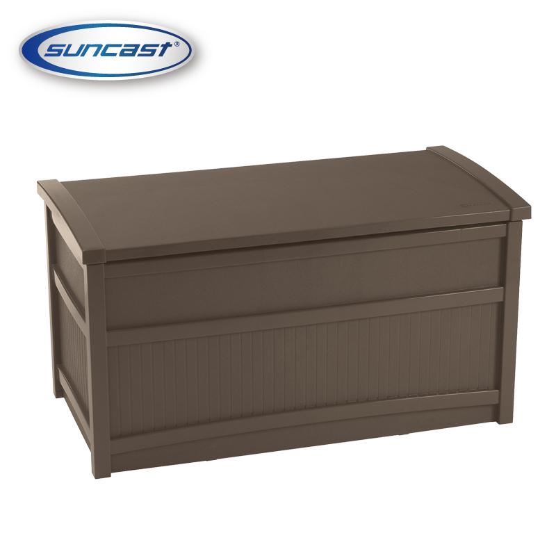 [SUNCAST]50ガロンデッキボックス(ブラウン) 組み立て簡単、メンテナンスフリー