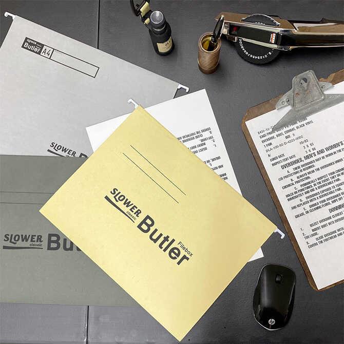 Butler ファイルボックス専用ホルダー 同色10枚入り SLOWER スロウワー ファイルホルダー 低価格化 同色10枚セット バトラー 本体別売 ユニセックス 紙 メンズ インデックス 大放出セール A4 おしゃれ 収納 書類 かっこいい