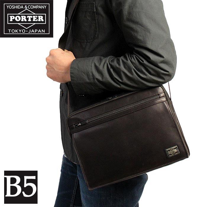 【二年保証】吉田カバン ポーター アメイズ 本革 レザー ショルダーバッグ (L) B5対応 PORTER AMAZE SHOULDER BAG L 022-03790 吉田かばん あす楽対応 正規品 プレゼント 父の日