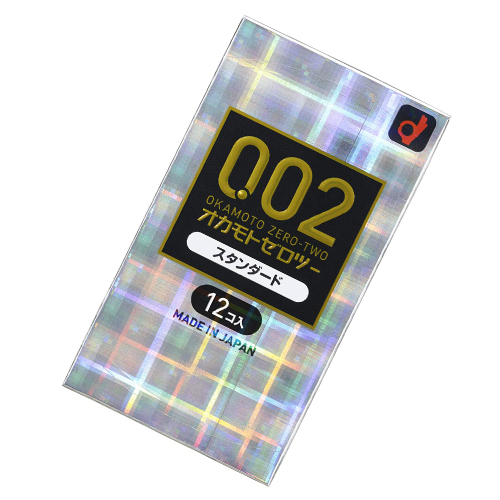 【0.02mmの極ウス/潤滑ゼリー多め】 オカモトゼロツー002 スタンダード コンドーム