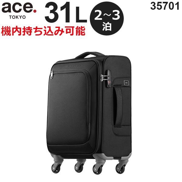 【各種利用でポイント最大24倍!】 ace.TOKYO LABEL ロックペイントSS (31L) ソフトキャリー 2~3泊用 機内持ち込み可能 35701