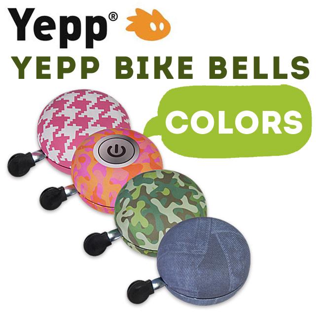 オランダ生まれのYeppからデザイン自転車用ベル登場 Yepp Bike Bells メーカー在庫限り品 Colours 新作多数 イエップバイクベル 子供 子供乗せ 自転車用ベル カラーズ チャイルドシート