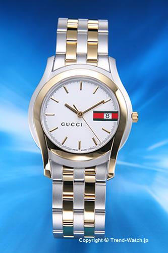 グッチ 時計 GUCCI 腕時計 メンズ GQ5500シリーズ SG(コンビ)/ホワイト YA055313