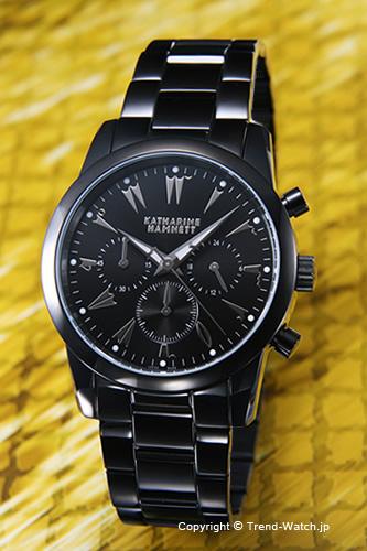 凱瑟琳火腿網路手錶Chronograph V(計時儀5)SS(全部黑色)/黑色KH23A5-B39
