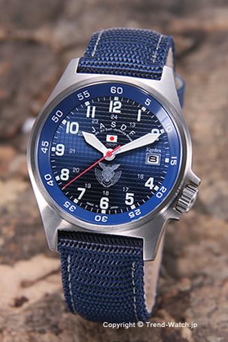 ケンテックス 腕時計 S455M-02 航空自衛隊モデル ブルー/ネイビーナイロン