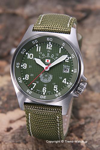 ケンテックス 腕時計 S455M-01 陸上自衛隊モデル カーキグリーン/グリーンナイロン