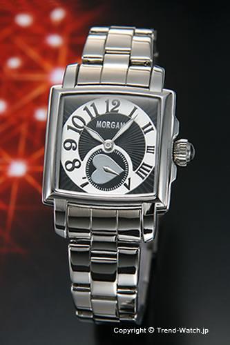 モルガン 【MORGAN】 腕時計 スクエア レディースウォッチ ブラック/シルバー MG061-2【モルガン 時計】