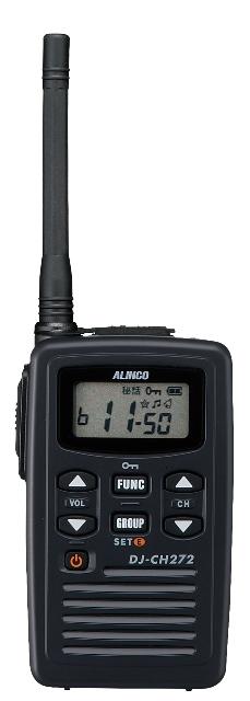 トランシーバー アルインコ DJ-CH272M ミドルアンテナ ( 特定小電力トランシーバー インカム ALINCO )( バッテリー・充電器セット )