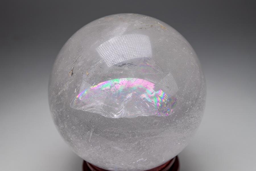 天然水晶丸玉 785g アイリスクォーツ 丸玉 クォーツ 水晶 パワーストーン 原石 天然石