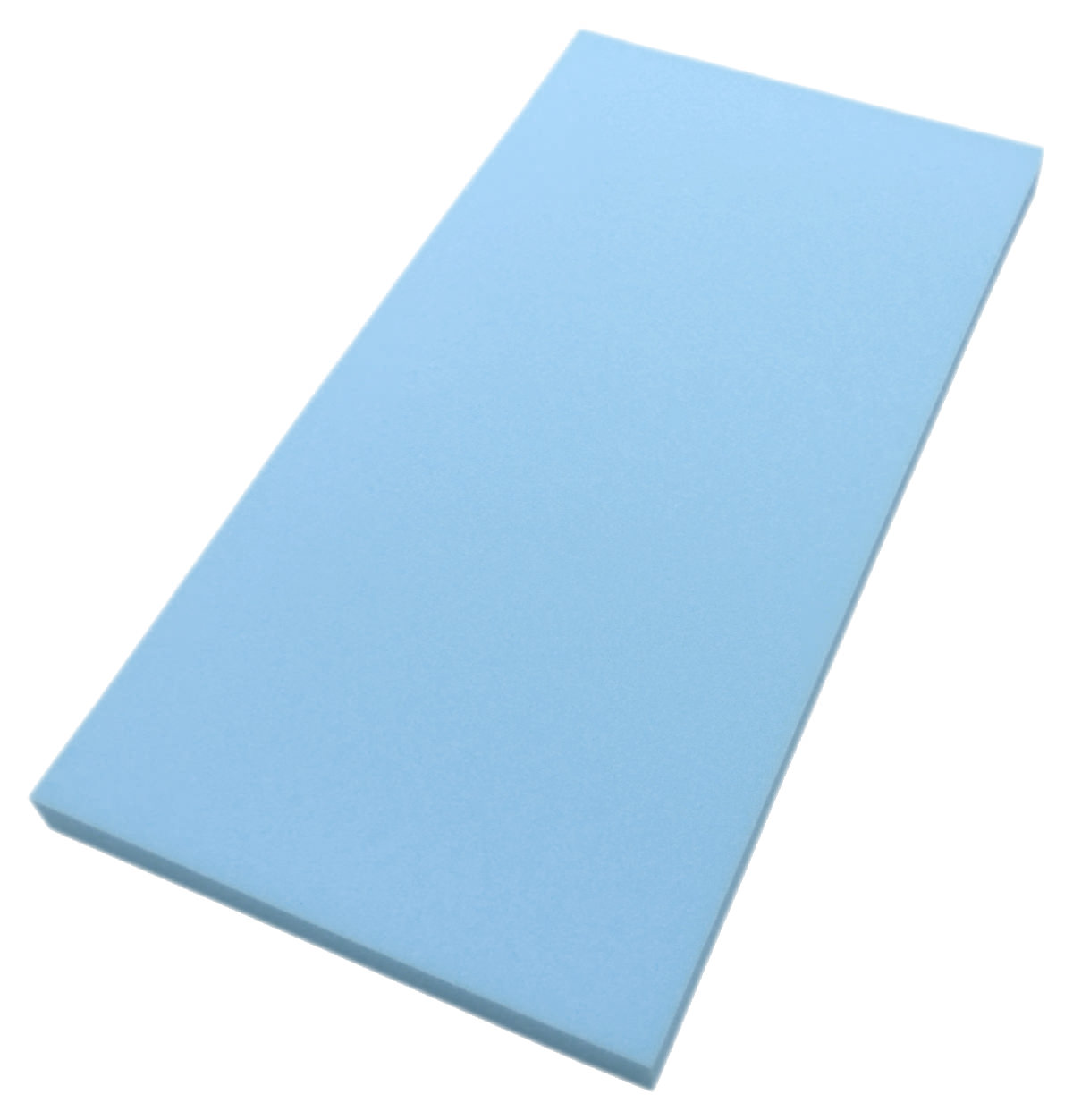 クッション用中材 DIY時の緩衝材としても ウレタンフォーム 約53×104×6cm 薄青または灰色(色指定は出来ません)