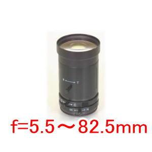 【SA-48802】 防犯カメラ・監視カメラ マニュアルアイリス バリフォーカルレンズ(CSマウント) f=5.5~82.5mm L径42Фmm