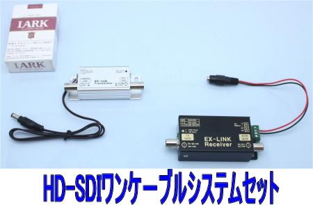 【SA-50998】 防犯カメラ・監視カメラ用 HD-SDI ワンケーブルシステムセット HD対応1080p60) 1台用 送信&受信機セット