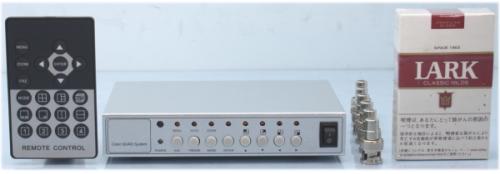 【SA-51124】カメラ4台入力コントロ-ル用(リモコン付)コンパクト4分割器