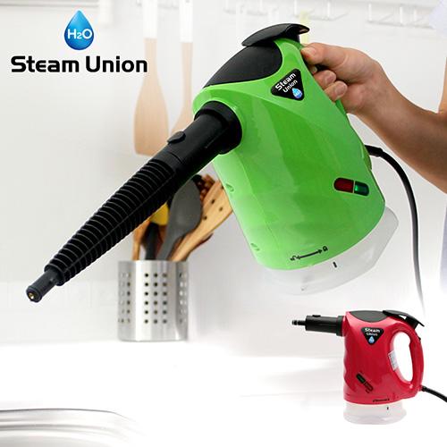 【約43%OFF!時間限定タイムセール中!】H2Oスチームユニオン グリーン/レッド【 h2o スチームクリーナー 高圧 洗浄 掃除 油 汚れ 水 】