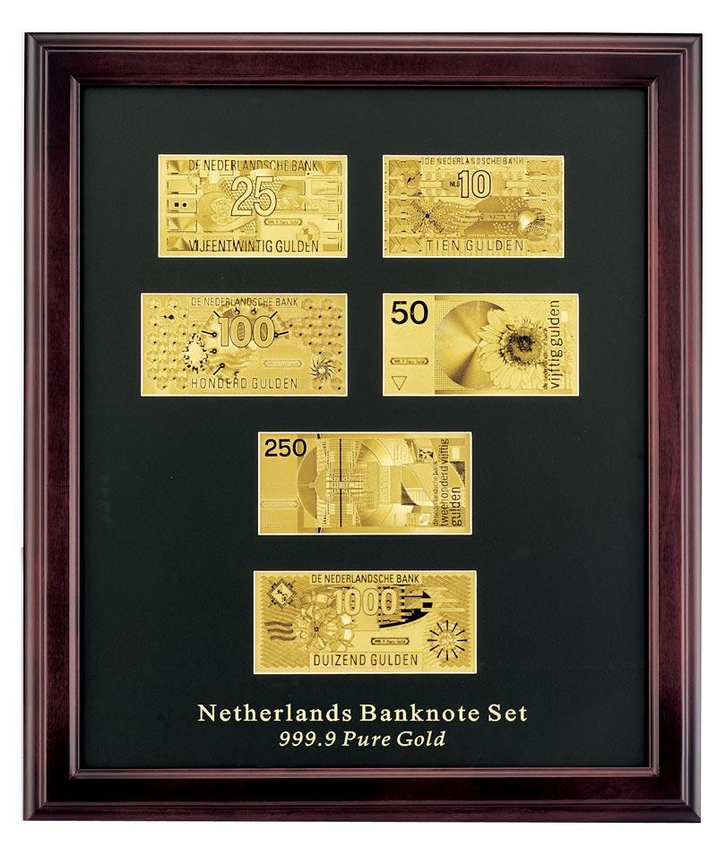 純金箔荷蘭盾(荷蘭)紙幣安排