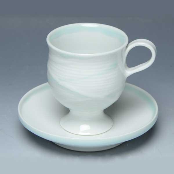 【 送料無料 】 京焼 清水焼 京 焼き 京焼き 珈琲碗皿 二色水流 にしょくすいりゅう