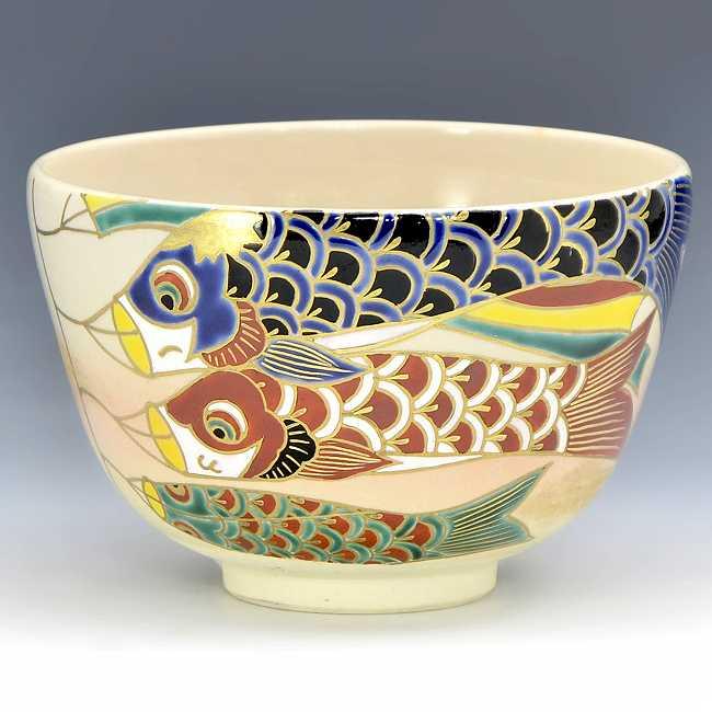 【 送料無料 】 京焼 清水焼 京 焼き 京焼き 茶道具 抹茶碗 1客 木箱入り 彩泳 さいえい
