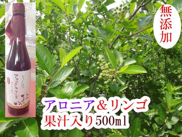 【送料無料】アロアニ&リンゴ果汁 最南端、新潟県産 アロアニ アントシアニンはブルーベリーの2倍、食物繊維はバナナの6倍、ダイエット、体内脂肪燃焼 健康飲料  500ml×12本