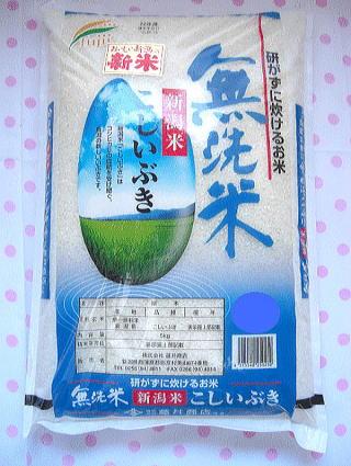 【送料無料】平成30年度産 新米 新潟県産こしいぶき無洗米5キログラム×4